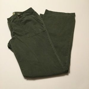 Army Green Pants Low Rise & bling Old Navy size 6